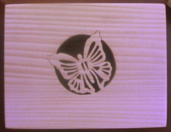 Boite motif papillon