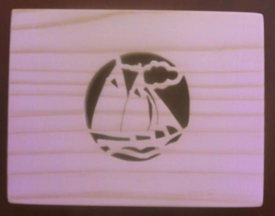 Boite motif voilier